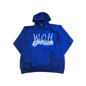 W.O.H We Out Here Hoodie - Blue