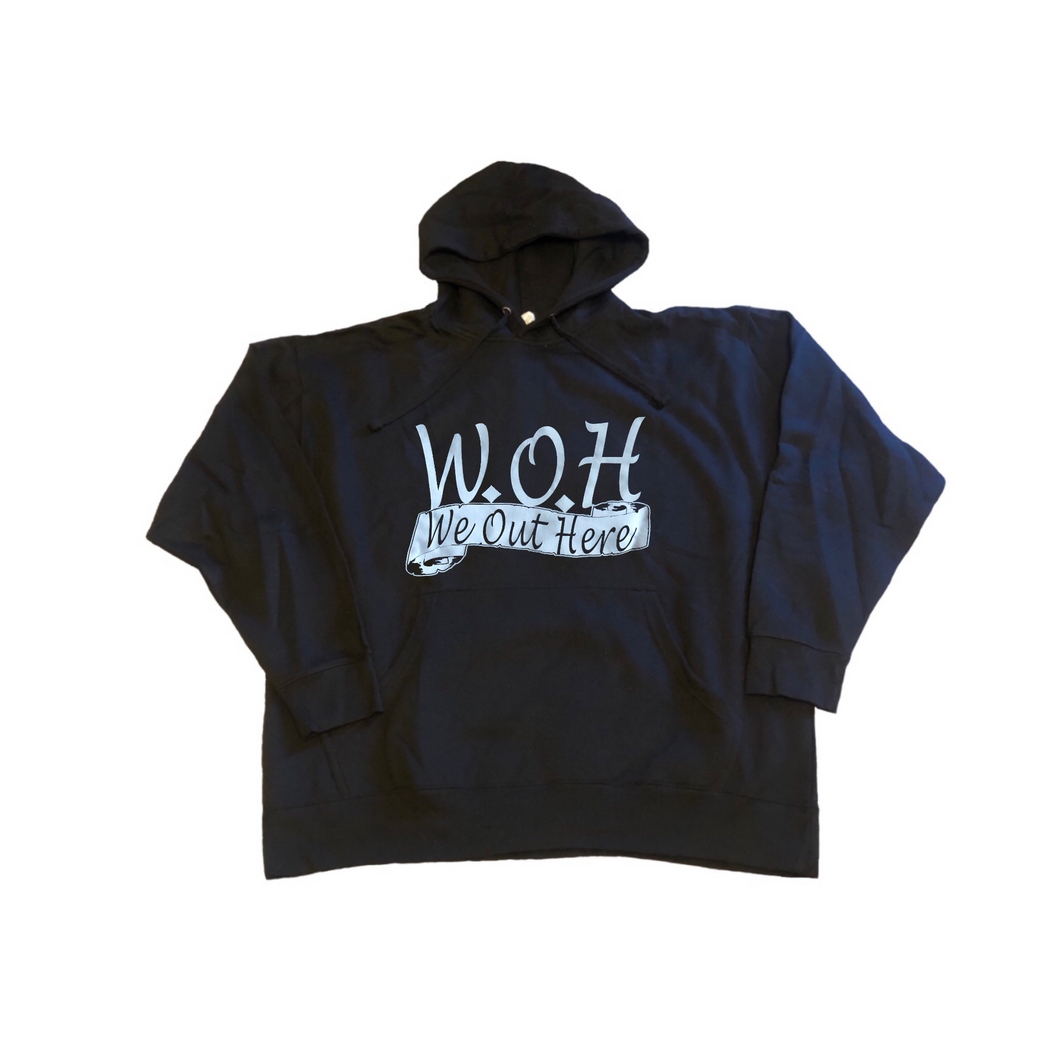 W.O.H We Out Here Hoodie - Black