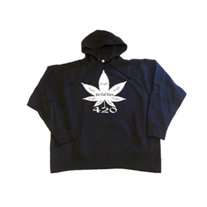 We Out Here High 420 Hoodie - Black