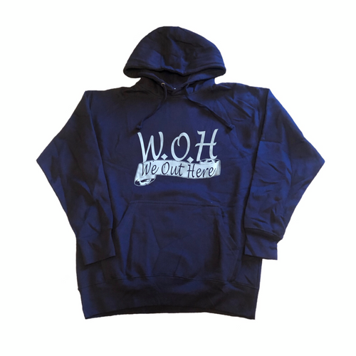 W.O.H We Out Here Hoodie - Navy Blue