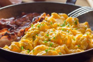 Keto Scramble with Bacon