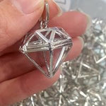 silver crystal cages