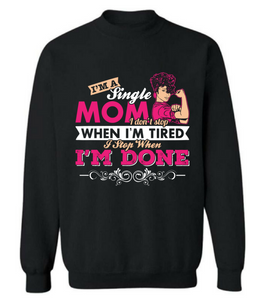"""Single MOM"" T shirt"