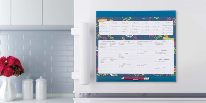 Family Meal Planning with the Big Shop and Menu Planner Fridge List