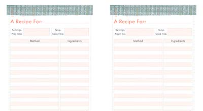 Free Recipe Printable - Download yours now
