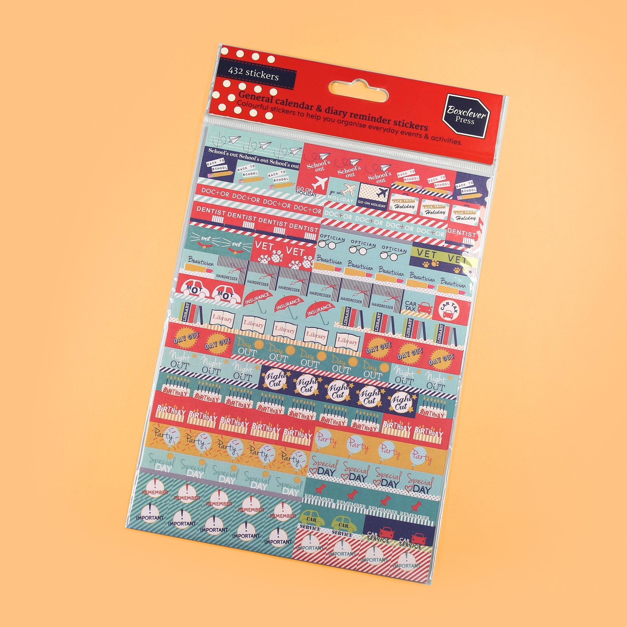 An image of General Stickers I Diary, planner and calendar I Boxclever Press