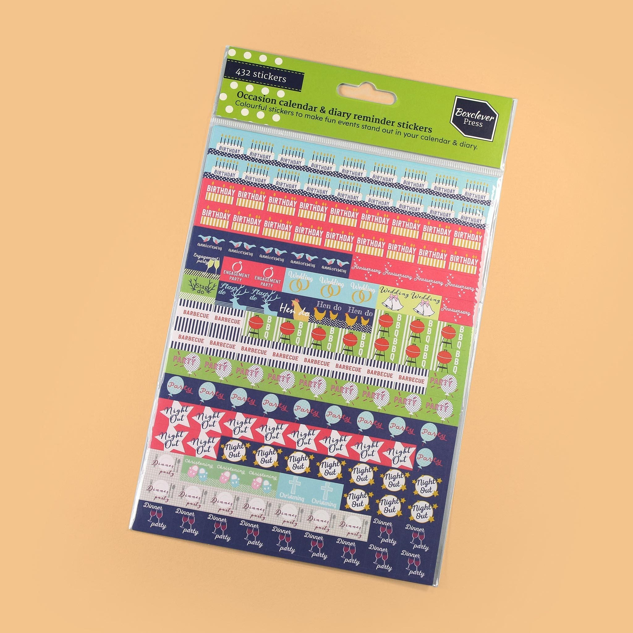 An image of Occasions Stickers I Diary, planner and calendar I Boxclever Press