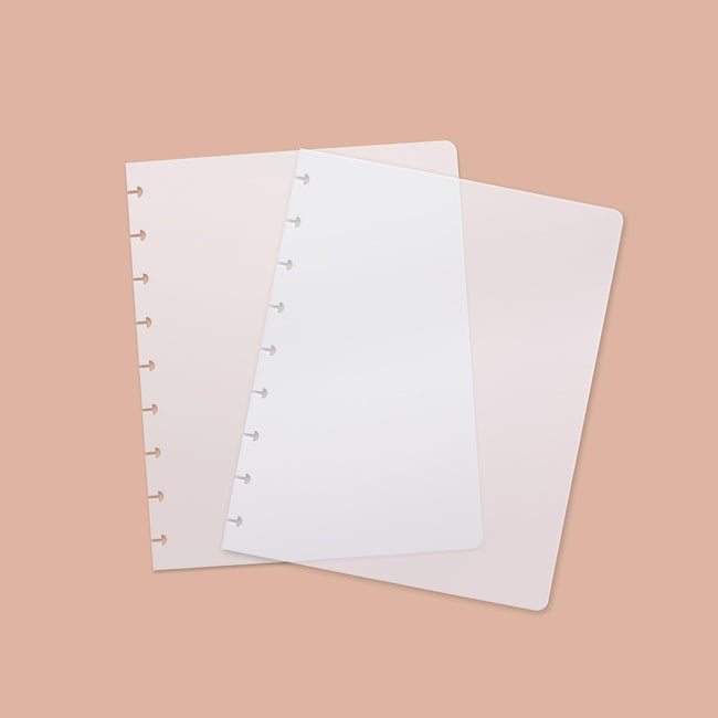 BD_COVERS-2-Category Clear plastic Busy Days Planner covers with the punched holes cut out