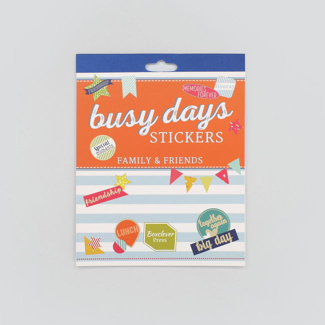 BD_PSFAM_Gallery_1 Busy Days Planner and journal family and friends theme stickers designs include bunting, stars and slogans like Big Day