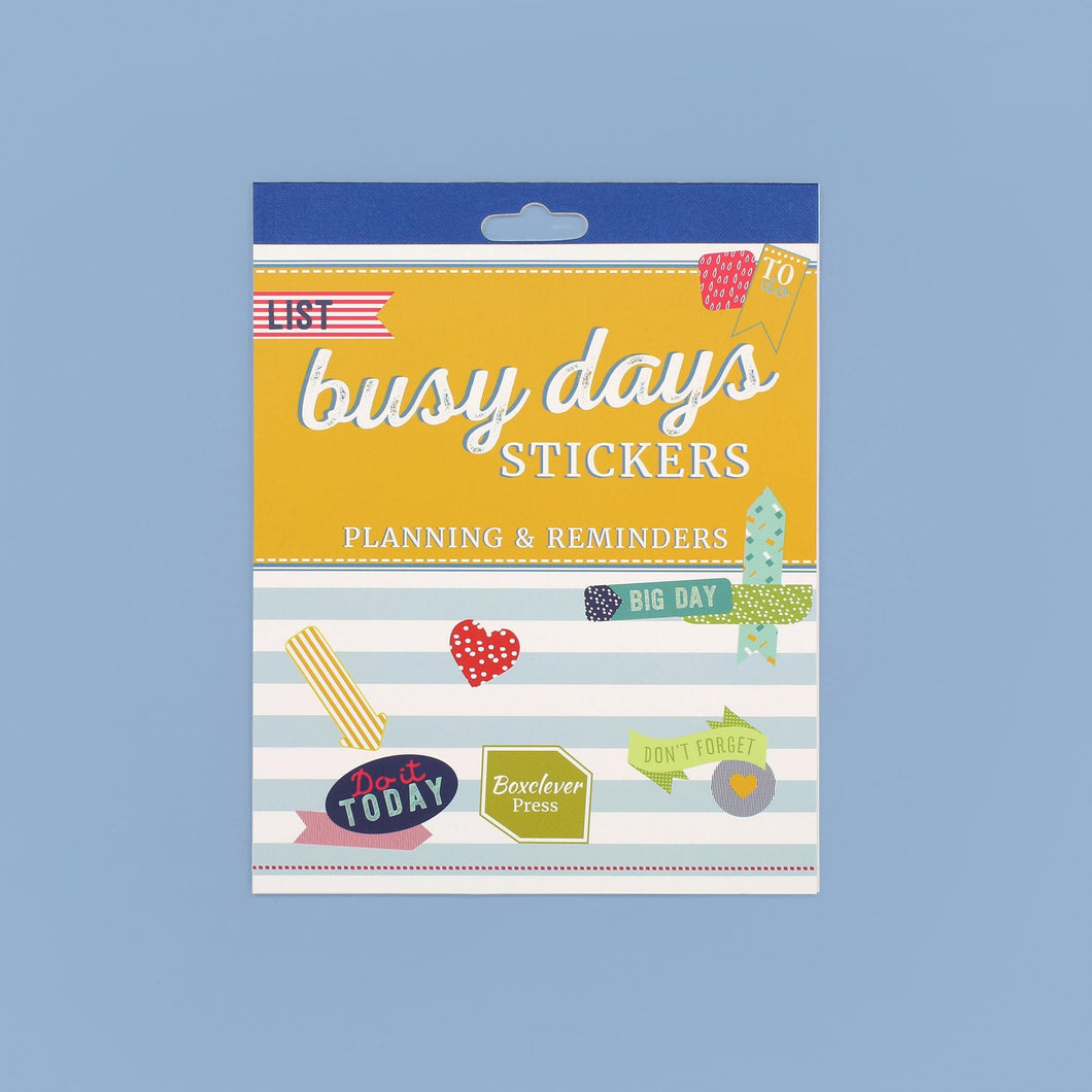 BD_PSPLA_Category Planning and reminder Busy Days daily planner stickers book including shapes, prints and slogans