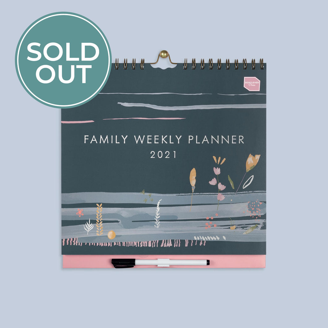 2020 - 2021 Family Weekly Planner Calendar