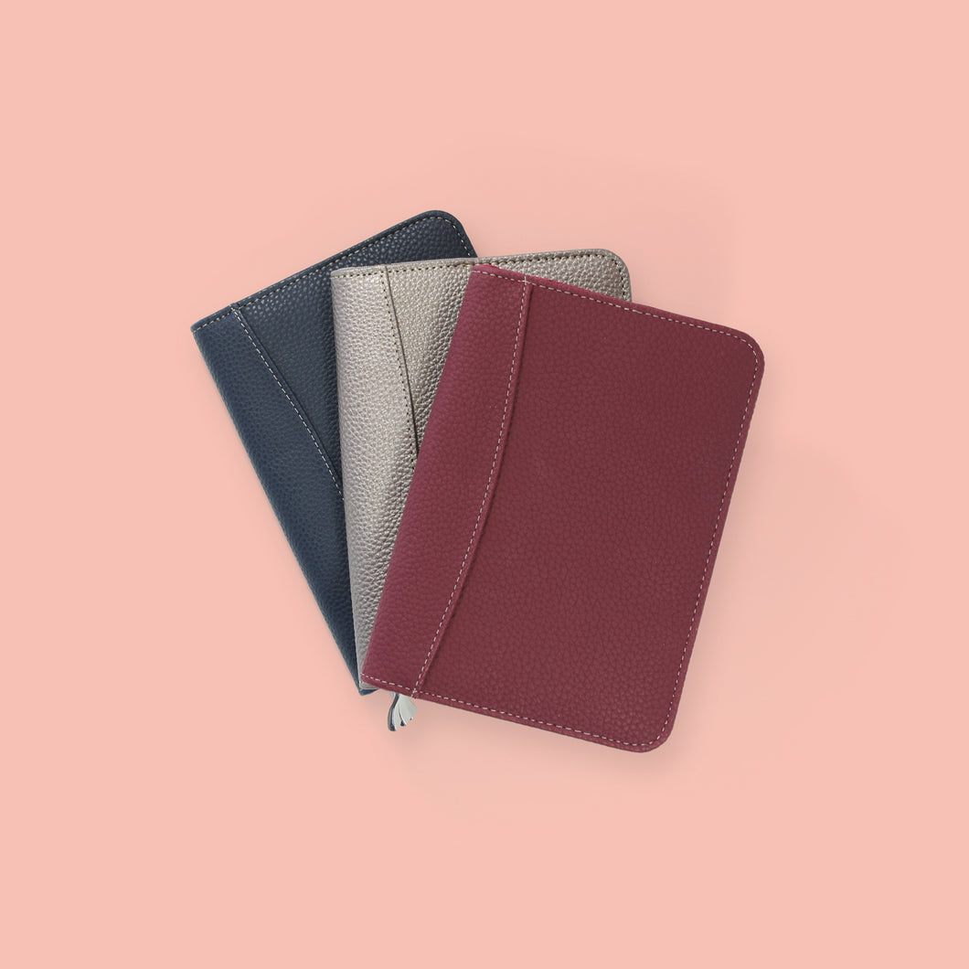 Perfect year A6 Diary covers in a fan shape in different colours