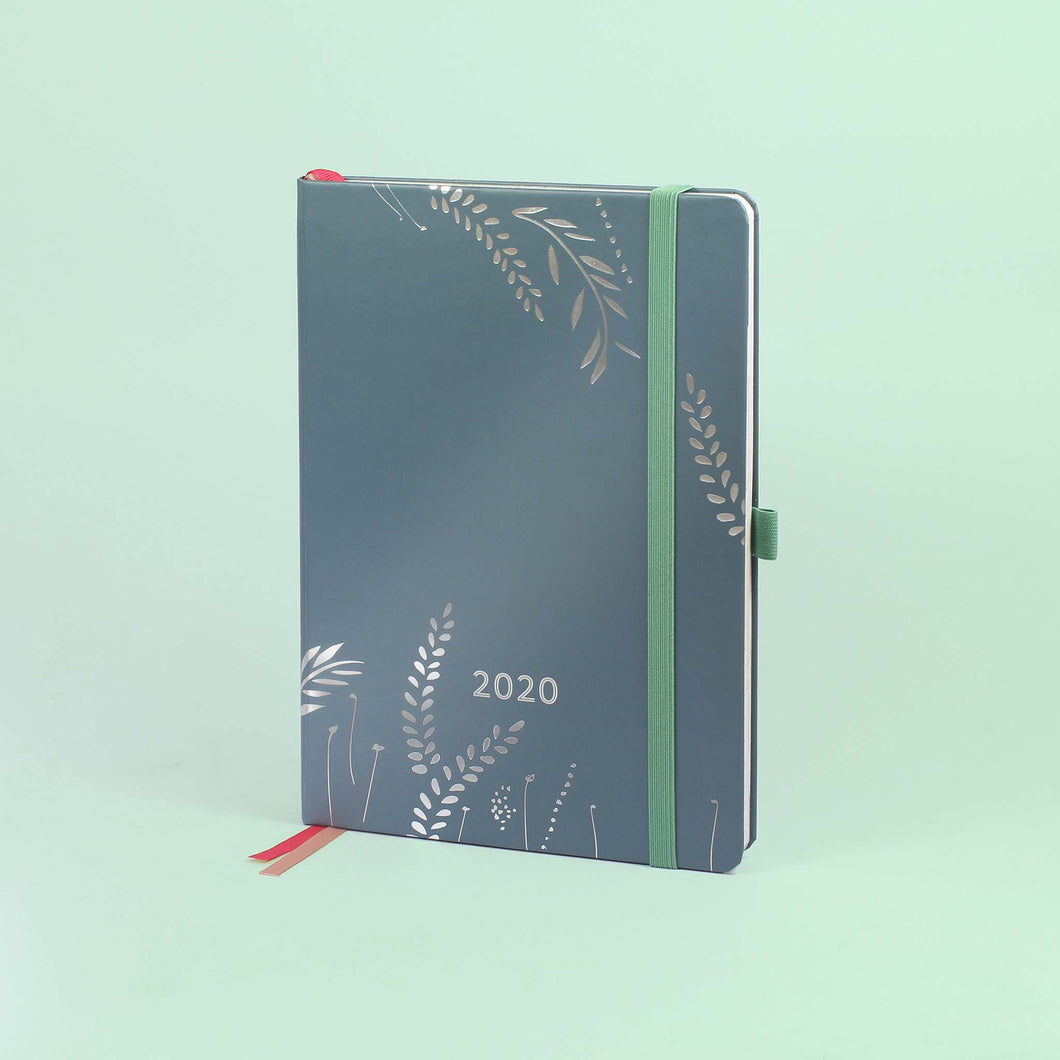 Enjoy Everyday A5 Diary on a light green background.