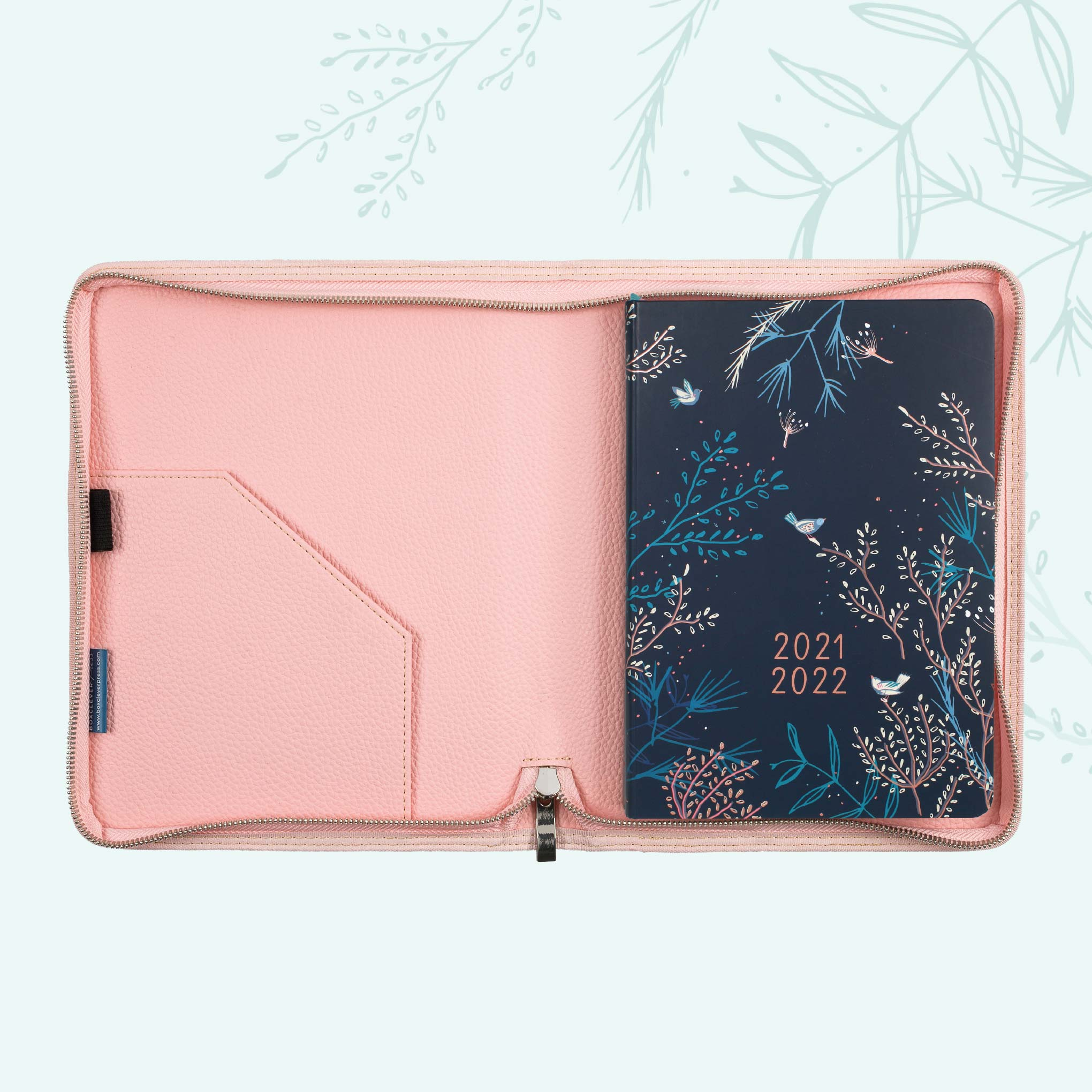 An image of 2021- 2022 Enjoy Everyday Academic A5 Diary in Cover | Boxclever Press Bloom