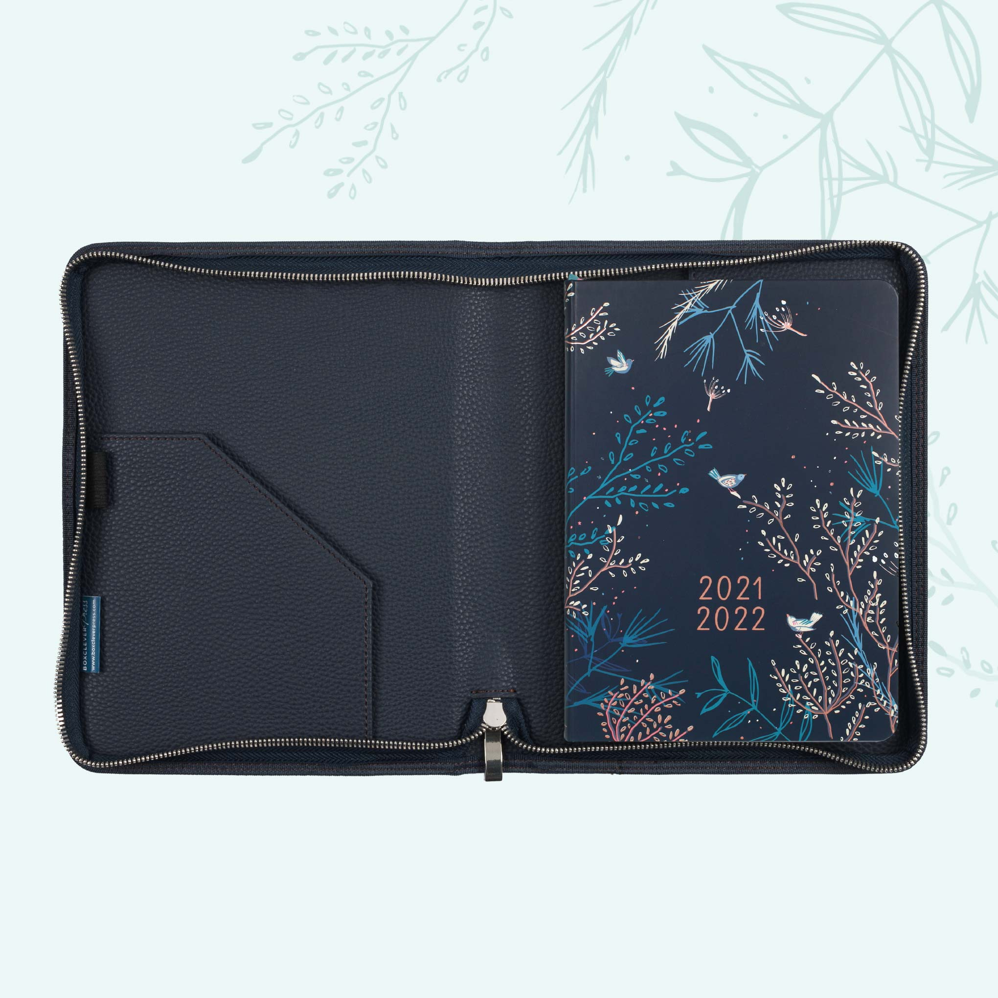 An image of 2021- 2022 Enjoy Everyday Academic A5 Diary in Cover | Boxclever Press Midnight ...