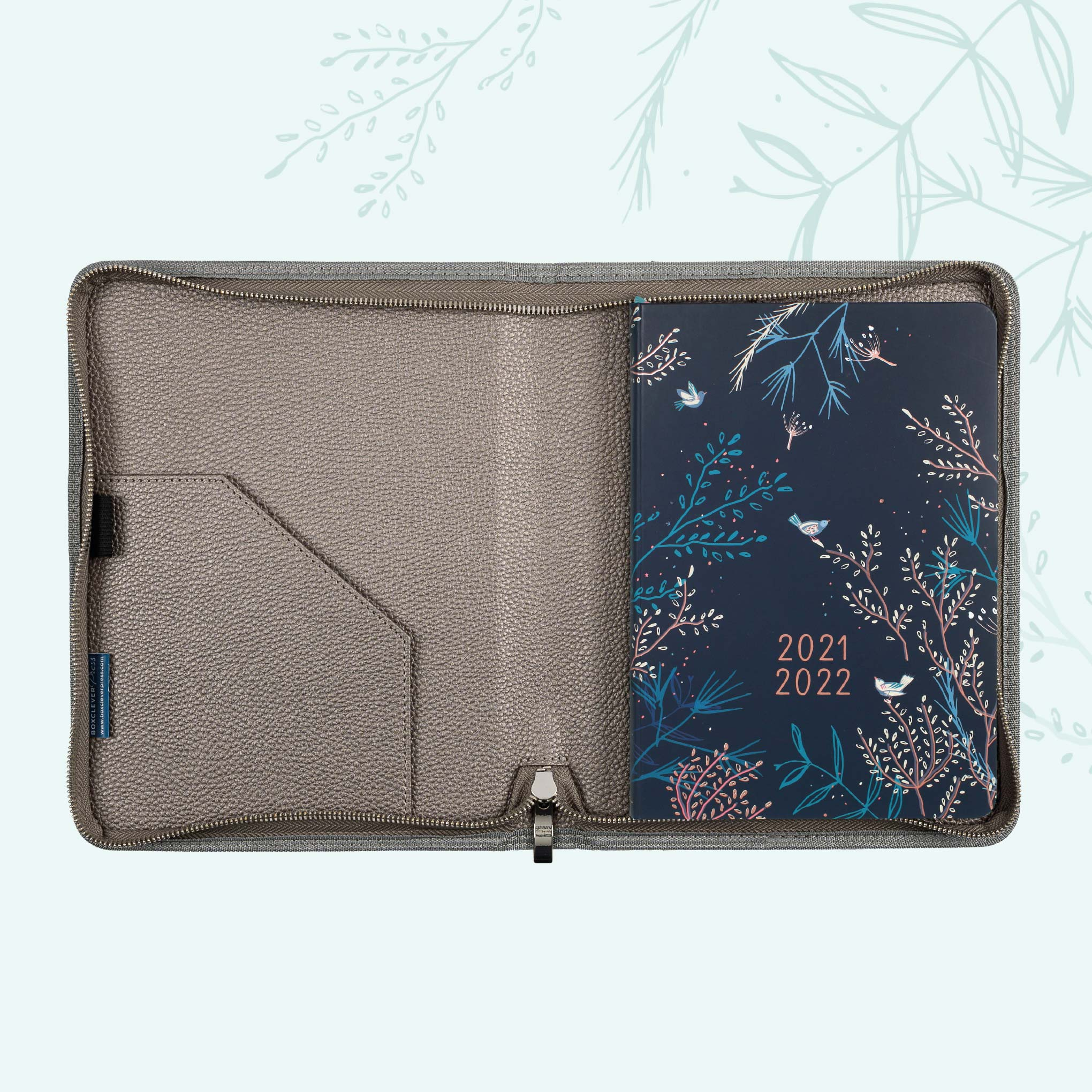 An image of 2021- 2022 Enjoy Everyday Academic A5 Diary in Cover | Boxclever Press Smoke