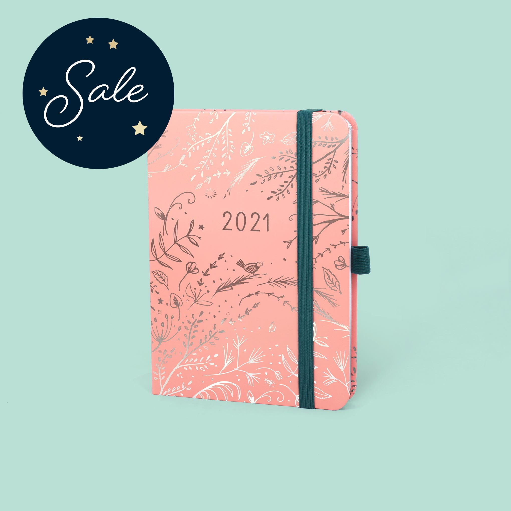 An image of 2021 Boxclever Press Enjoy Everyday Diary in Sherbet I Week-to-view