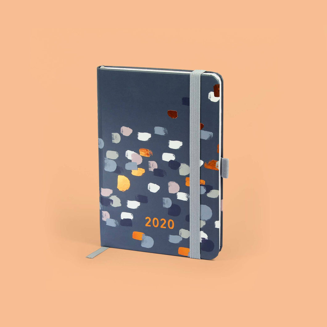 Perfect Year A6 diary on an light orange background
