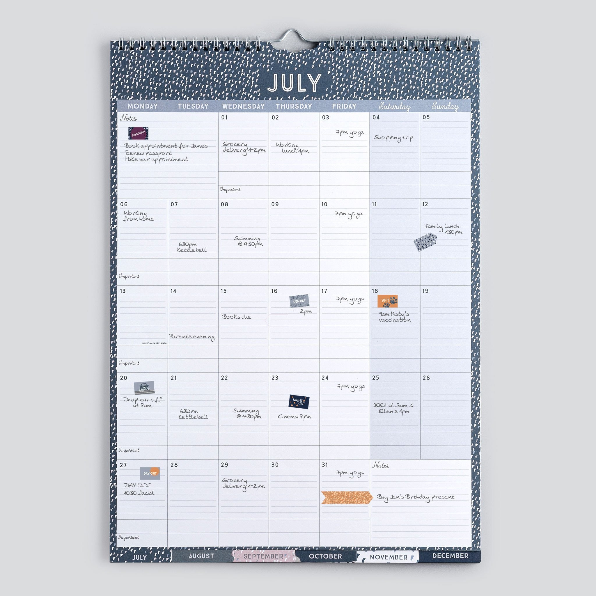 Calendrier Vaccinal 2020 Has.Perfect Year A3 Calendar Month To View Family Calendar