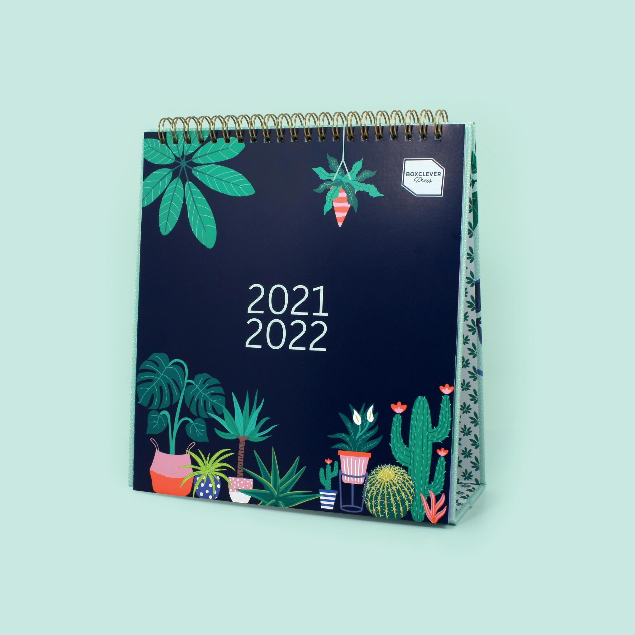 An image of 2021 - 2022 Simply Study Desk Calendar I month-to-view I Boxclever Press