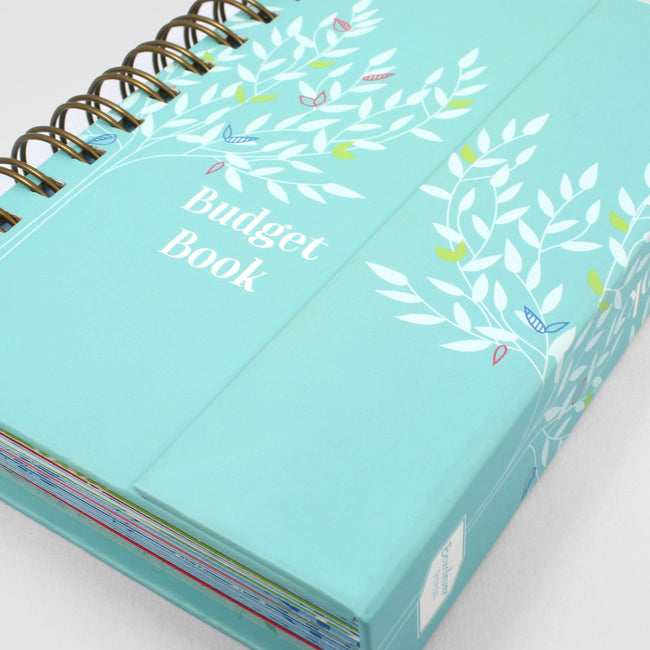 Close up of the budget planner from Boxclever Press showing magnetic closure