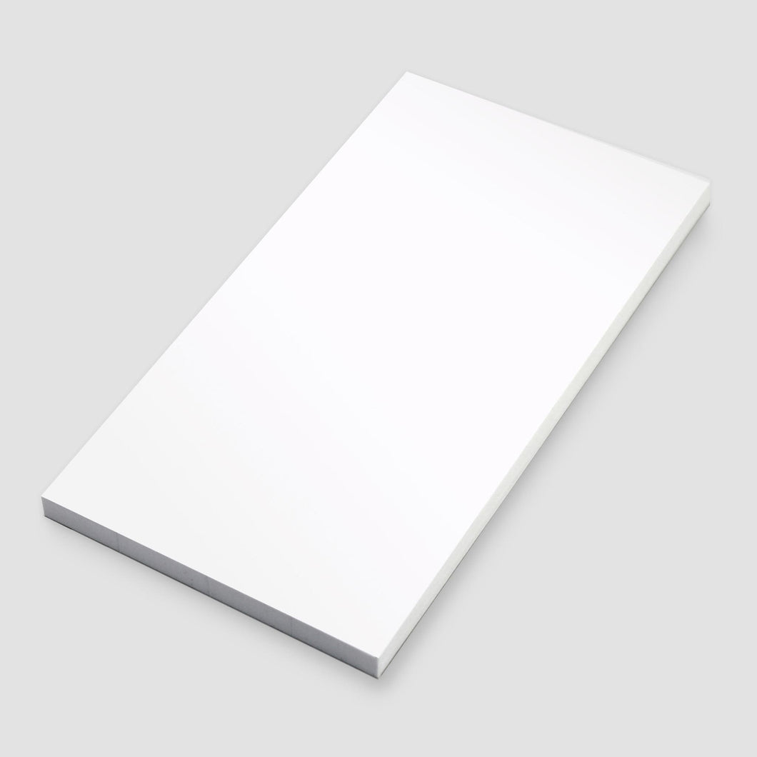 White diary cover notepad on an angle