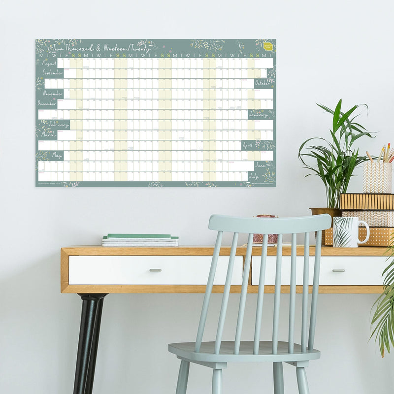 2019 - 2020 Academic Linear Wall Planner