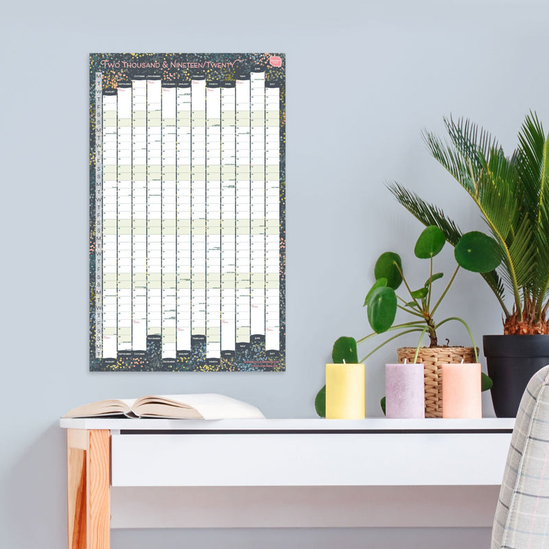 2019 - 2020 Academic Portrait Linear Wall Planner