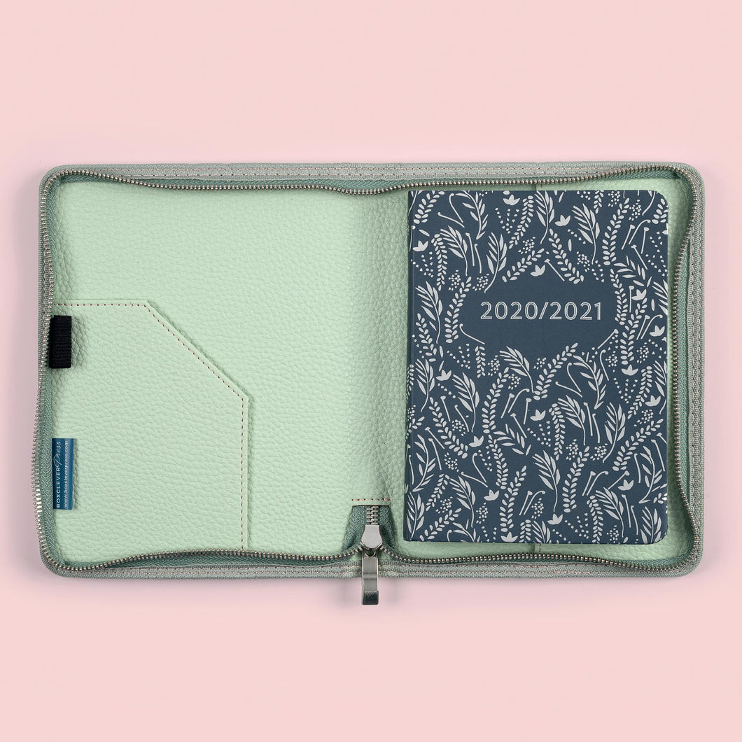 The enjoy everyday mid-year academic diary in a cover on a pink background