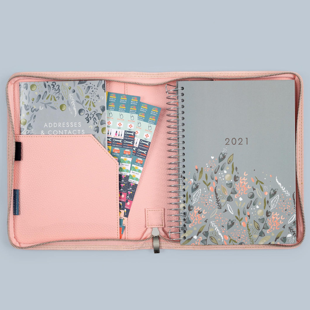 2021 family lifebook A5 in the bloom coloured luxury diary cover