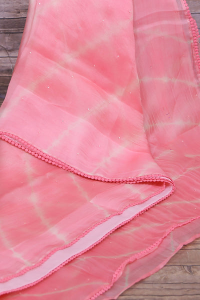 Navy blue pink cotton silk saree with thread design with brown stitched blouse