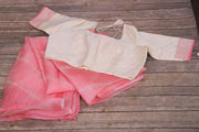 Black and Maroon modal silk ajrak print saree with blouse