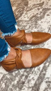 Camel Twisted Mules