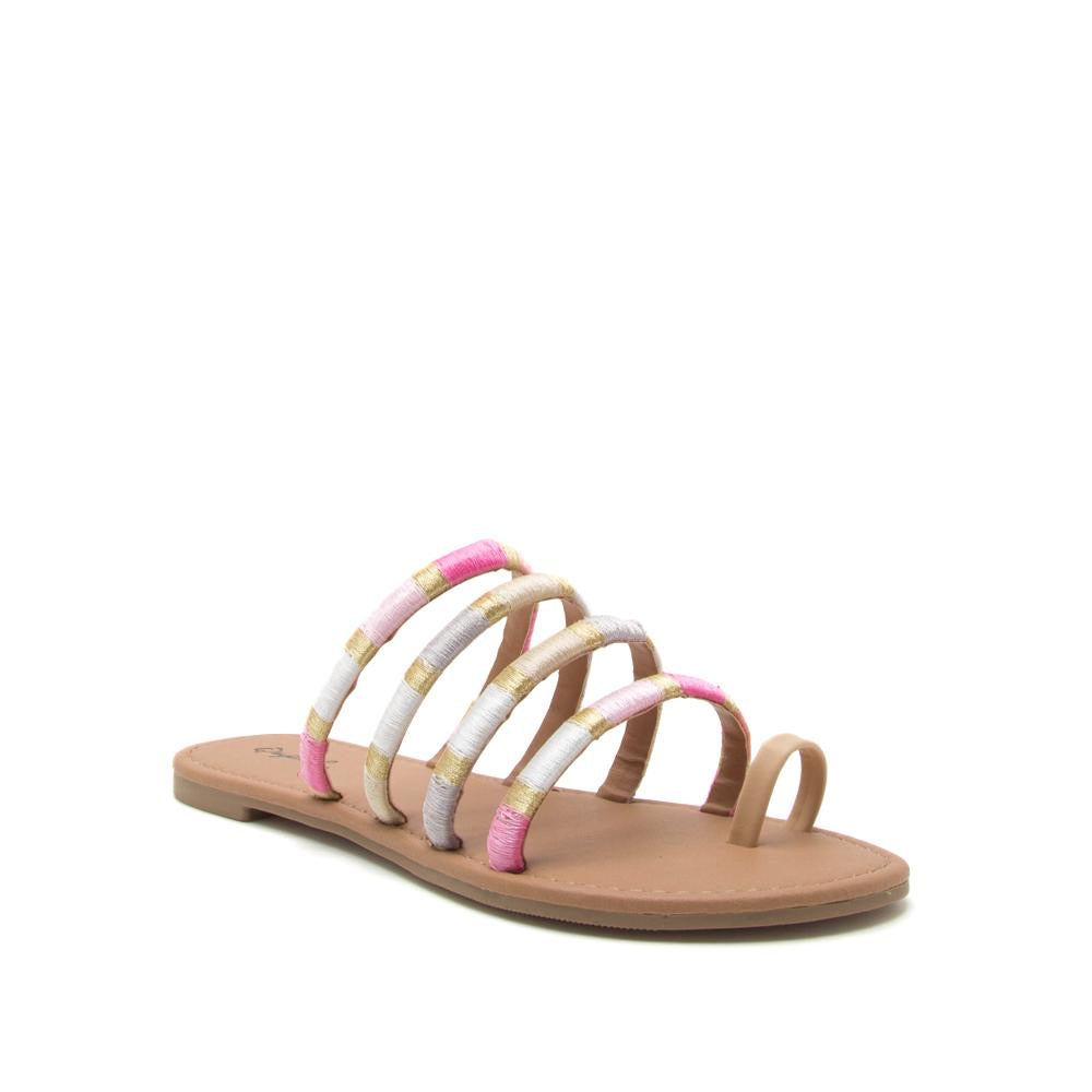 Pink Strappy Sandals