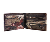 Alabama Crimson Tide Mossy Oak Camo & Leather Bifold Wallet - NCAA