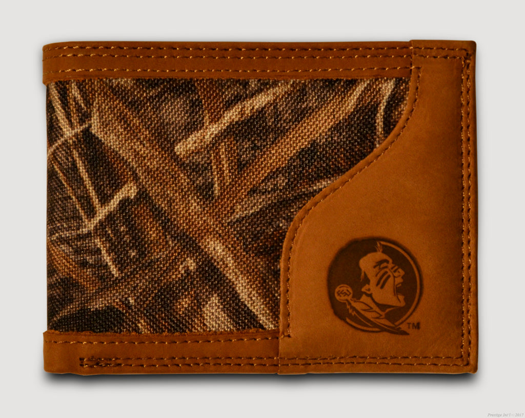 Florida State Seminoles Bifold Realtree Max-5 Camo & Leather Wallet - NCAA