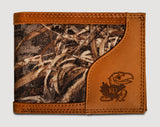 Kansas Jayhawks Bifold Realtree Max-5 Camo & Leather Wallet - NCAA