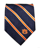 Auburn Tigers Thin Stripe Necktie - NCAA