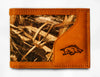 Arkansas Razorbacks Bifold Realtree Max-5 Camo & Leather Wallet - NCAA