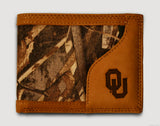 Oklahoma Sooners Bifold Realtree Max-5 Camo & Leather Wallet - NCAA