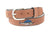 Zep-Pro Men's Embroidered Sailfish Leather Belt - Tan