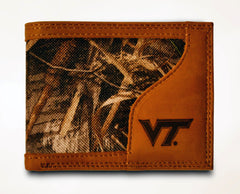 Virginia Tech Hokies Bifold Realtree Max-5 Camo & Leather Wallet - NCAA