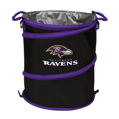 Baltimore Ravens 3-in-1 Collapsible Cooler, Trash Can or Laundry Hamper - NFL