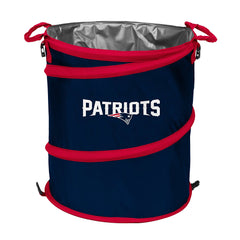 New England Patriots 3-in-1 Collapsible Cooler, Trash Can or Laundry Hamper - NFL