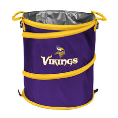 Minnesota Vikings 3-in-1 Collapsible Cooler, Trash Can or Laundry Hamper - NFL