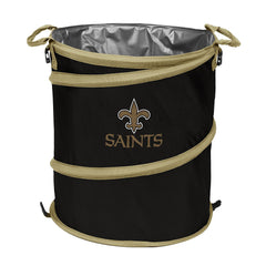 New Orleans Saints 3-in-1 Collapsible Cooler, Trash Can or Laundry Hamper - NFL