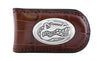 Florida Gators Crocodile Leather Magnet Concho Money Clip  - NCAA