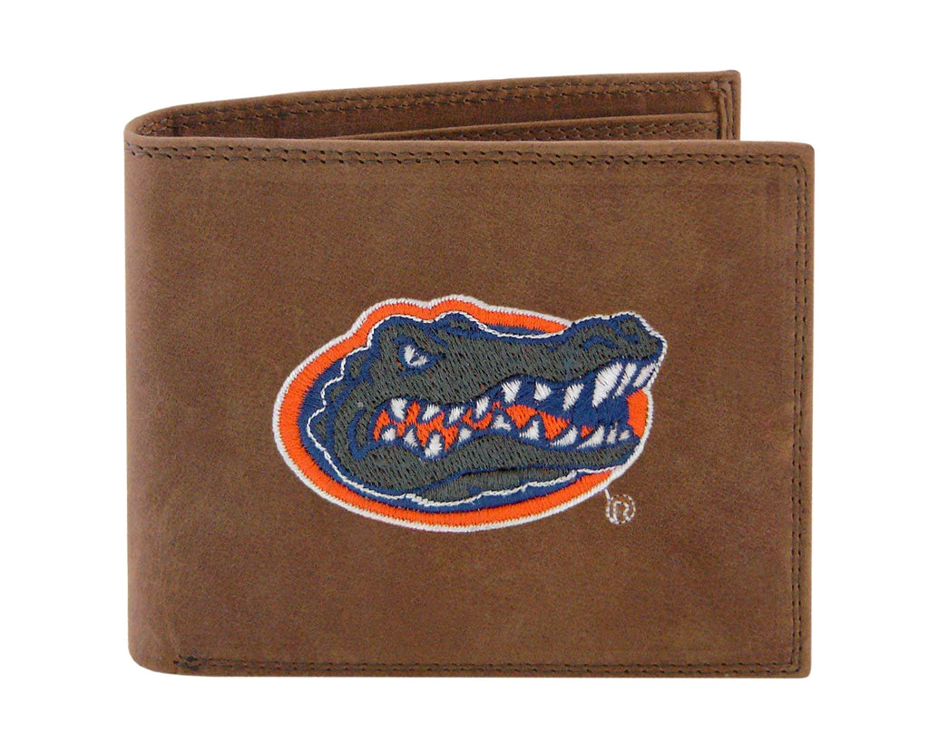 Florida Gators Crazyhorse Leather Bifold Embroidered Wallet - NCAA
