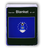 U.S. Air Force Flag Fleece Blanket - 50