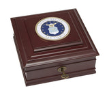 U.S. Air Force Flag Medallion Executive Desktop Box - Allied Frame™